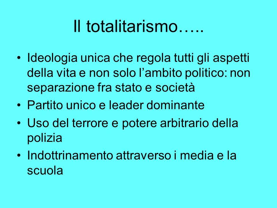 Il totalitarismo…..