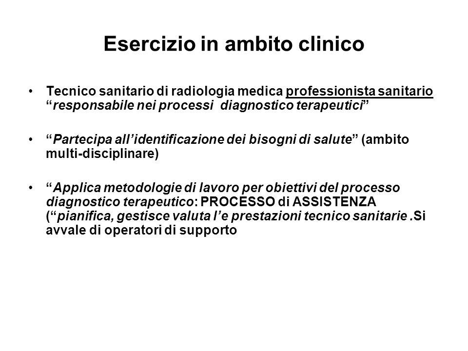 Esercizio in ambito clinico Tecnico sanitario di radiologia medica professionista sanitarioresponsabile nei processi diagnostico terapeutici Partecipa
