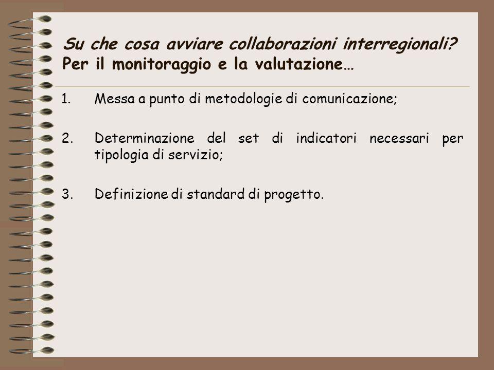 Su che cosa avviare collaborazioni interregionali.