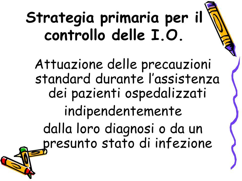 Strategia primaria per il controllo delle I.O.