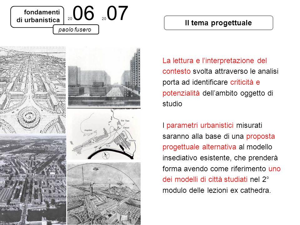 fondamenti di urbanistica paolo fusero Il tema progettuale La lettura e linterpretazione del contesto svolta attraverso le analisi porta ad identifica