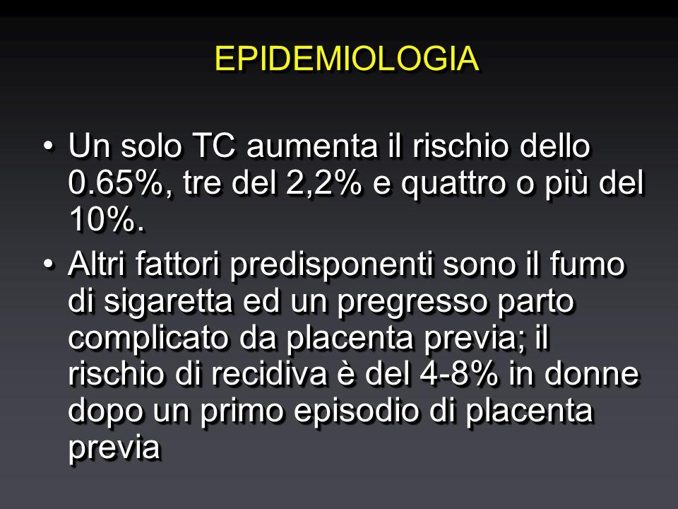 EPIDEMIOLOGIAEPIDEMIOLOGIA Un solo TC aumenta il rischio dello 0.65%, tre del 2,2% e quattro o più del 10%.Un solo TC aumenta il rischio dello 0.65%, tre del 2,2% e quattro o più del 10%.