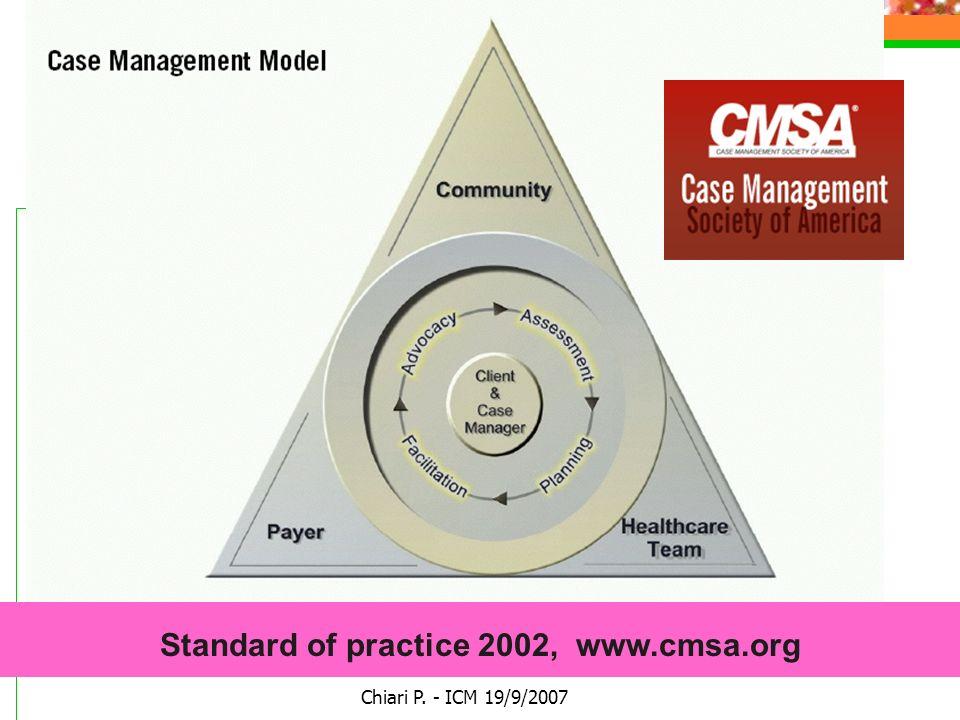 Chiari P. - ICM 19/9/2007 Standard of practice 2002, www.cmsa.org