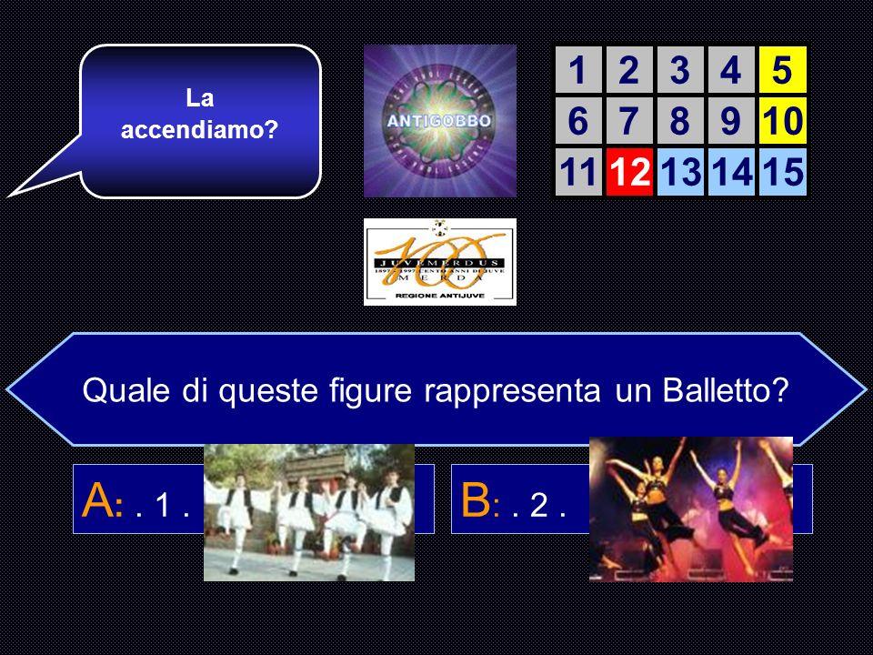 Quale di queste 4 figure è un Balletto.A :. 1. B :.