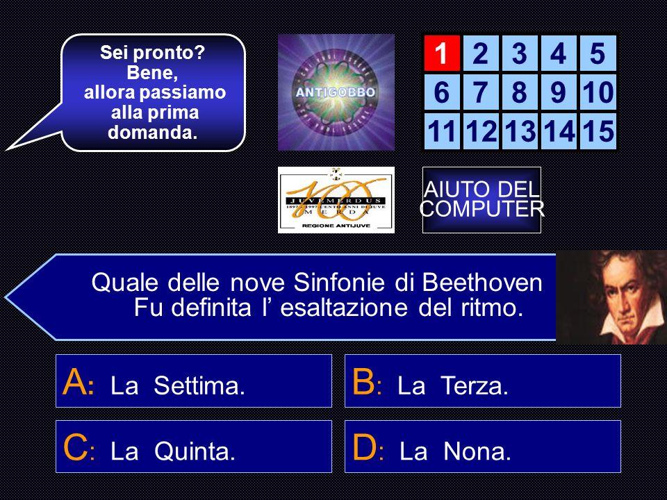 REGOLAMENTO E ISTRUZIONI Questo gioco è un quiz in cui dovrai rispondere a 15 domande sulla musica.
