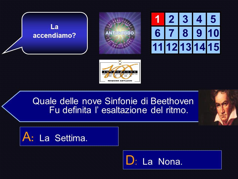 Quale delle nove Sinfonie di Beethoven Fu definita l esaltazione del ritmo.