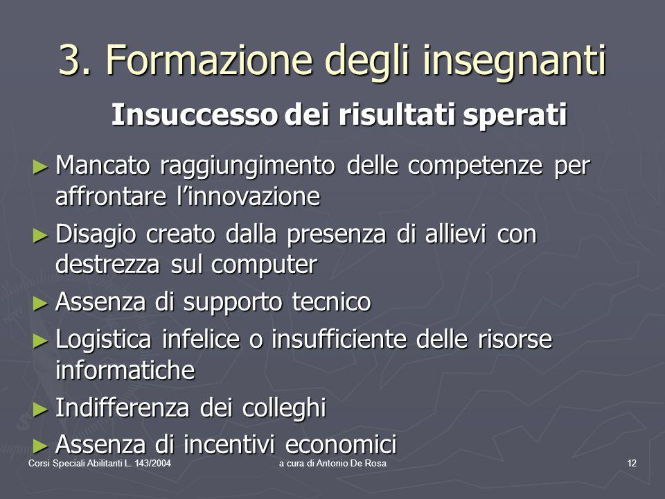 Corsi Speciali Abilitanti L. 143/2004a cura di Antonio De Rosa12 3.