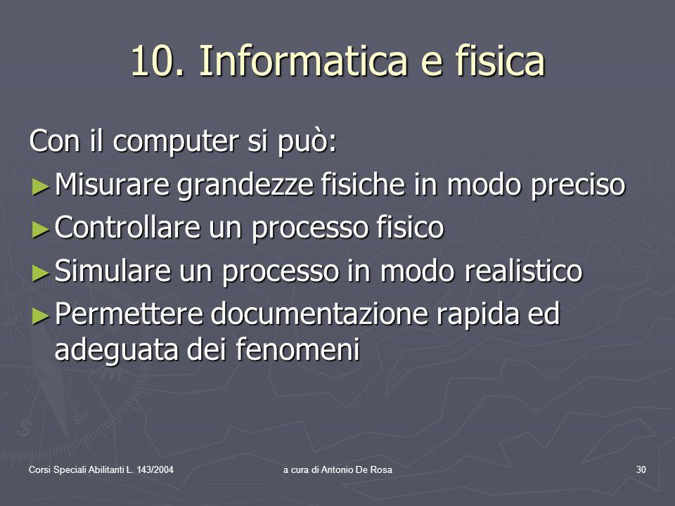 Corsi Speciali Abilitanti L. 143/2004a cura di Antonio De Rosa30 10.