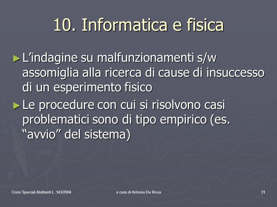Corsi Speciali Abilitanti L. 143/2004a cura di Antonio De Rosa31 10.