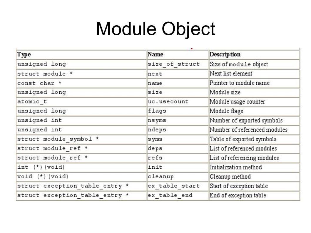 Module Object