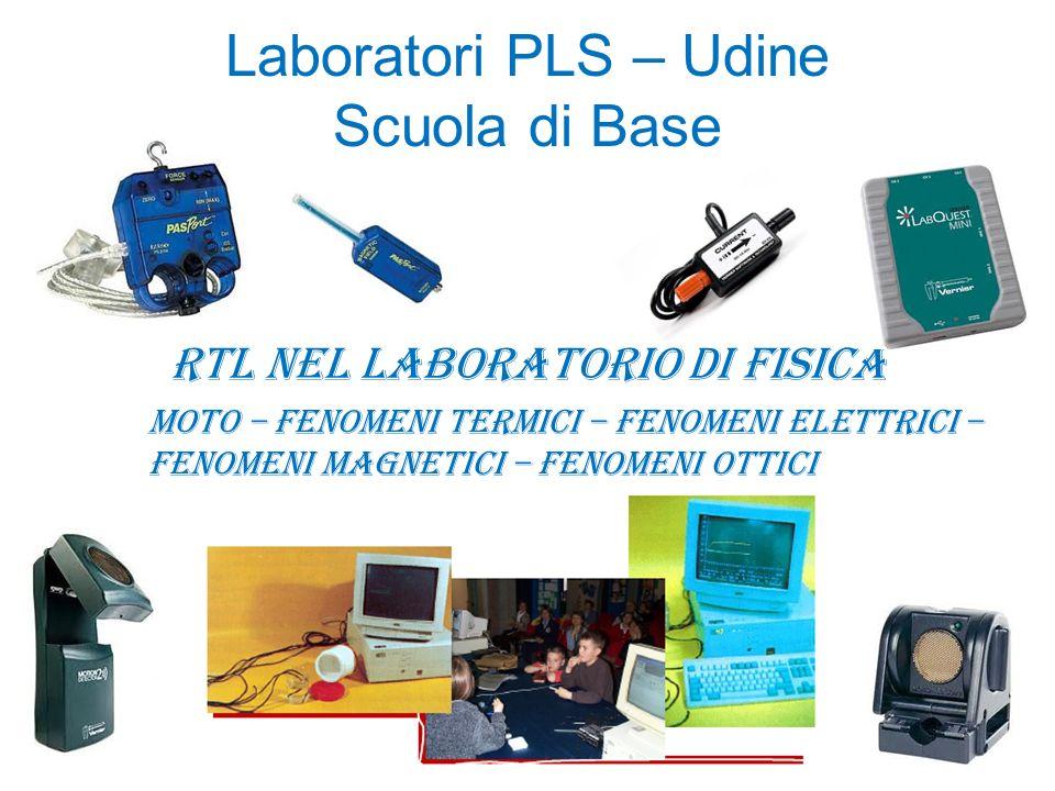 Laboratori PLS – Udine Scuola di Base RTL nel laboratorio di fisica Moto – Fenomeni Termici – Fenomeni elettrici – fenomeni magnetici – fenomeni ottic