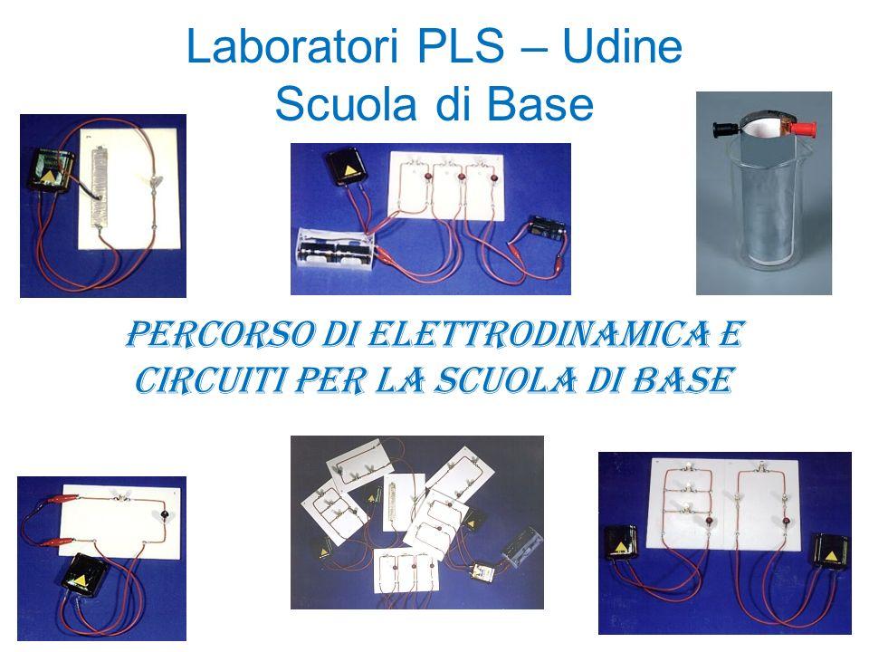 Laboratori PLS – Udine Scuola di Base Percorso di elettrodinamica e circuiti per la scuola di base