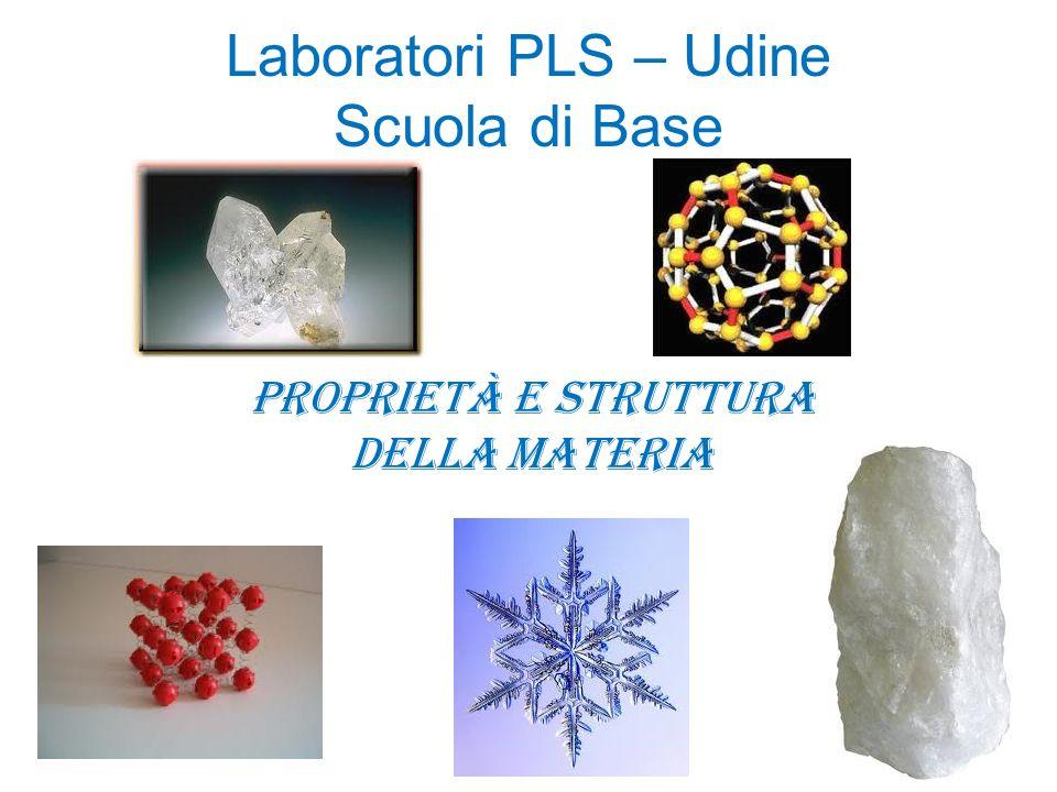 Laboratori PLS – Udine Scuola di Base Proprietà e struttura della materia