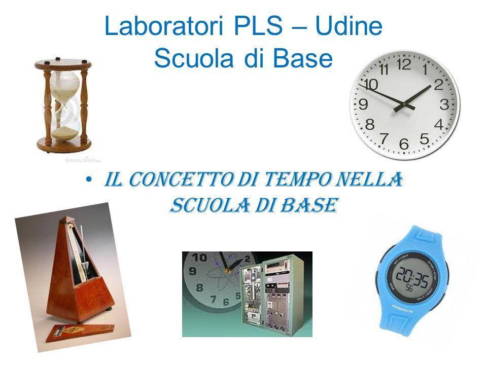 Laboratori PLS – Udine Scuola di Base Il concetto di tempo nella scuola di base