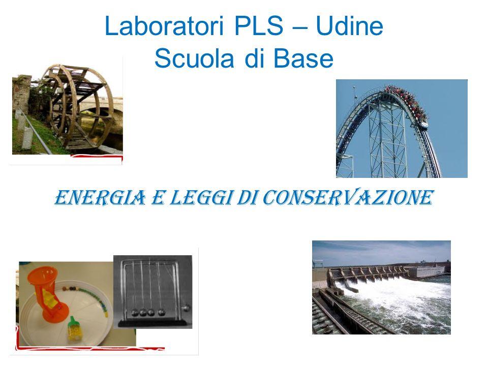 Laboratori PLS – Udine Scuola di Base Energia e leggi di conservazione