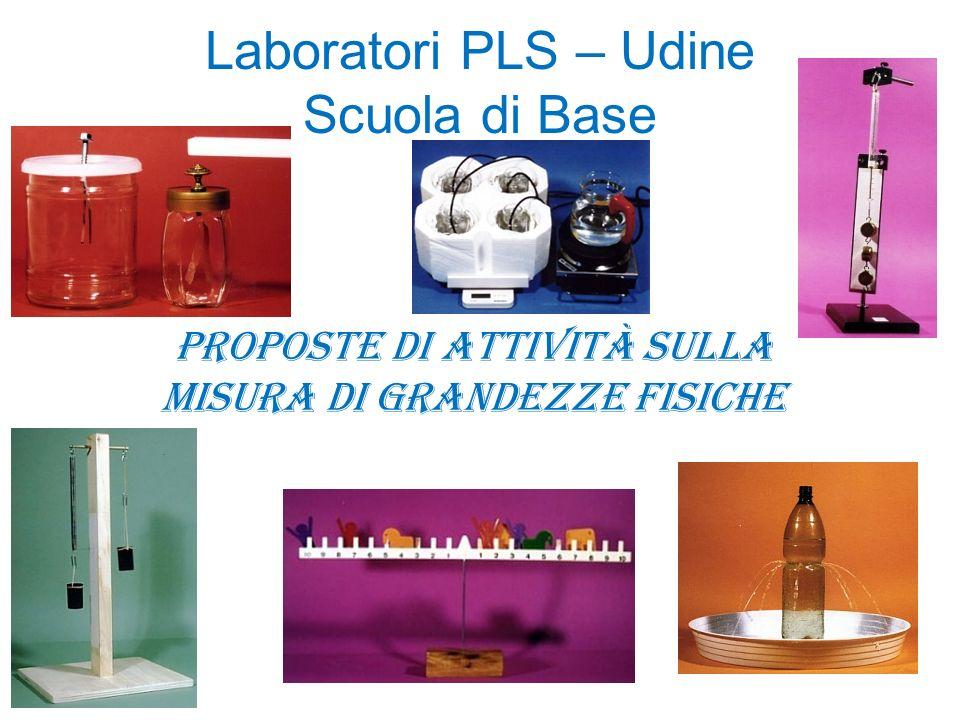 Laboratori PLS – Udine Scuola di Base Proposte di attività sulla misura di grandezze fisiche