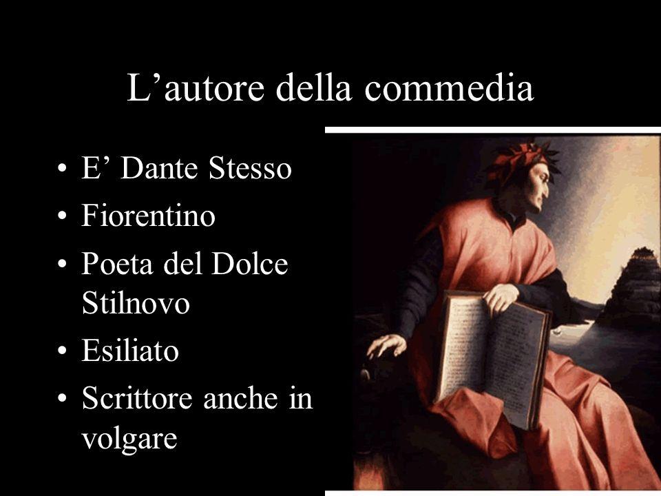 Lautore della commedia E Dante Stesso Fiorentino Poeta del Dolce Stilnovo Esiliato Scrittore anche in volgare