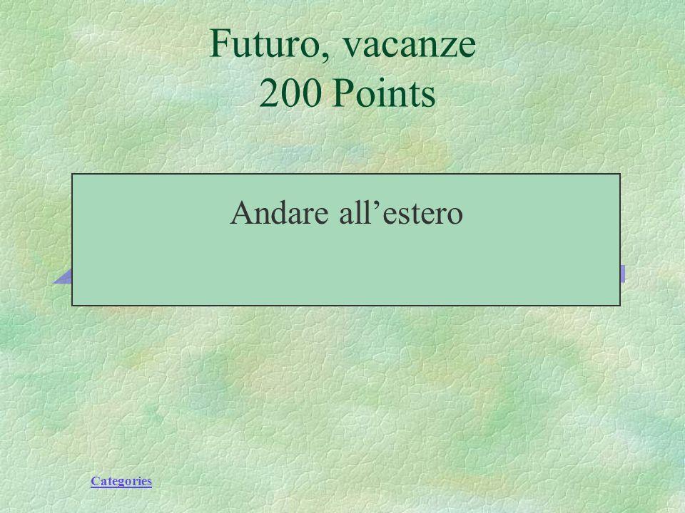 Categories Futuro,vacanze 200 Points Andare in vacanza fuori degli Stati Uniti