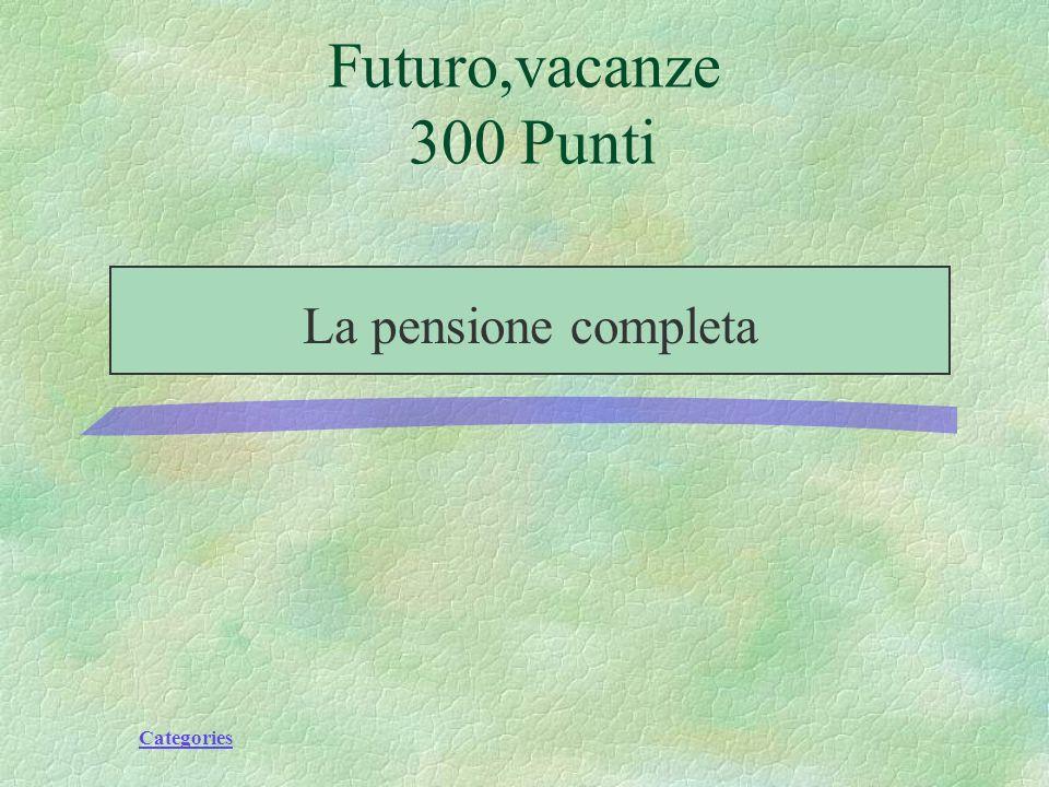 Categories Futuro,vacanze 300 Punti Include tre pasti al giorno