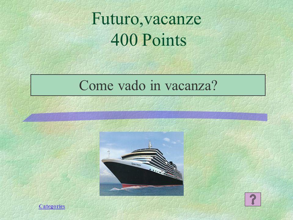 Categories Futuro,vacanze 300 Punti La pensione completa