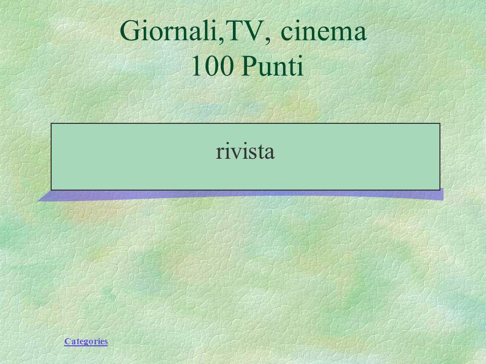 Categories Giornali,TV, cinema 100 Punti rivista