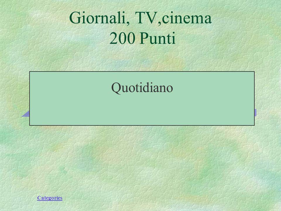 Categories Andare allestero Futuro, vacanze 200 Points