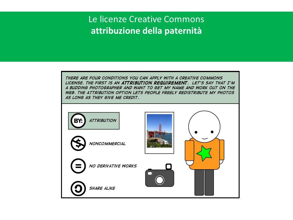 Le licenze Creative Commons attribuzione della paternità