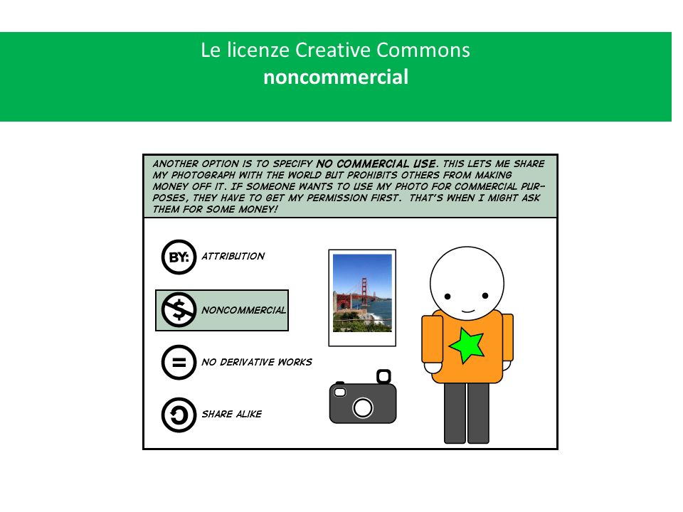 Le licenze Creative Commons noncommercial