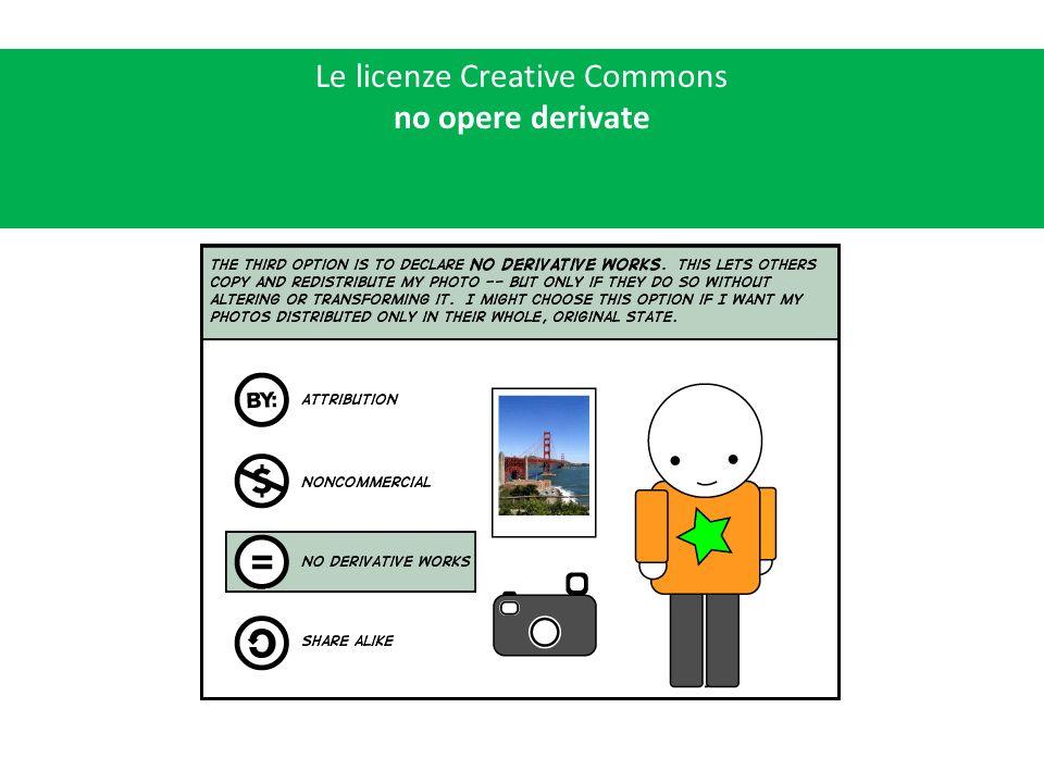 Le licenze Creative Commons ridistribuzione allo stesso modo