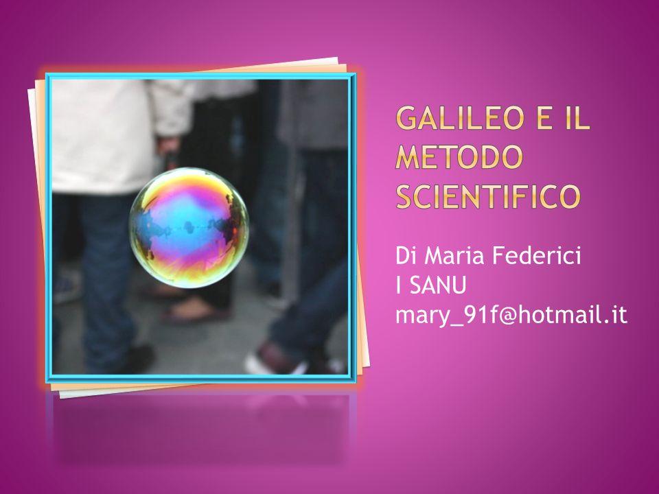 Introduzione Galileo Galilei: Vita e Opere Principio analizzato L osservazione Lesperienza (sperimentazione) L ipotesi (formulazione di unipotesi di legge) La verifica (accertamento delle validità delle ipotesi) Conclusioni Bibliografia