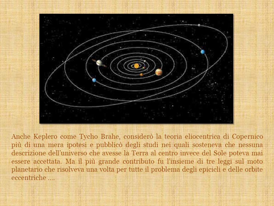 Anche Keplero come Tycho Brahe, considerò la teoria eliocentrica di Copernico più di una mera ipotesi e pubblicò degli studi nei quali sosteneva che n