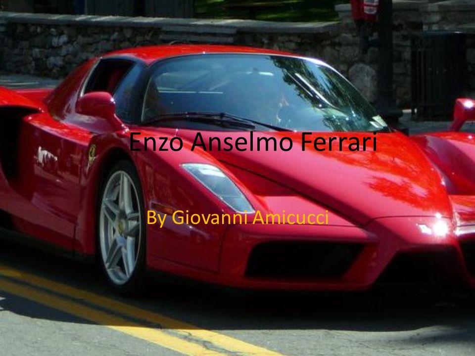 Di Enzo Questo è Enzo Anselmo Ferrari.Enzo compleanno è diciotto febbraio 1898.