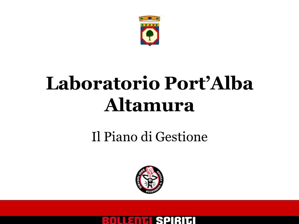 Laboratorio PortAlba Altamura Il Piano di Gestione