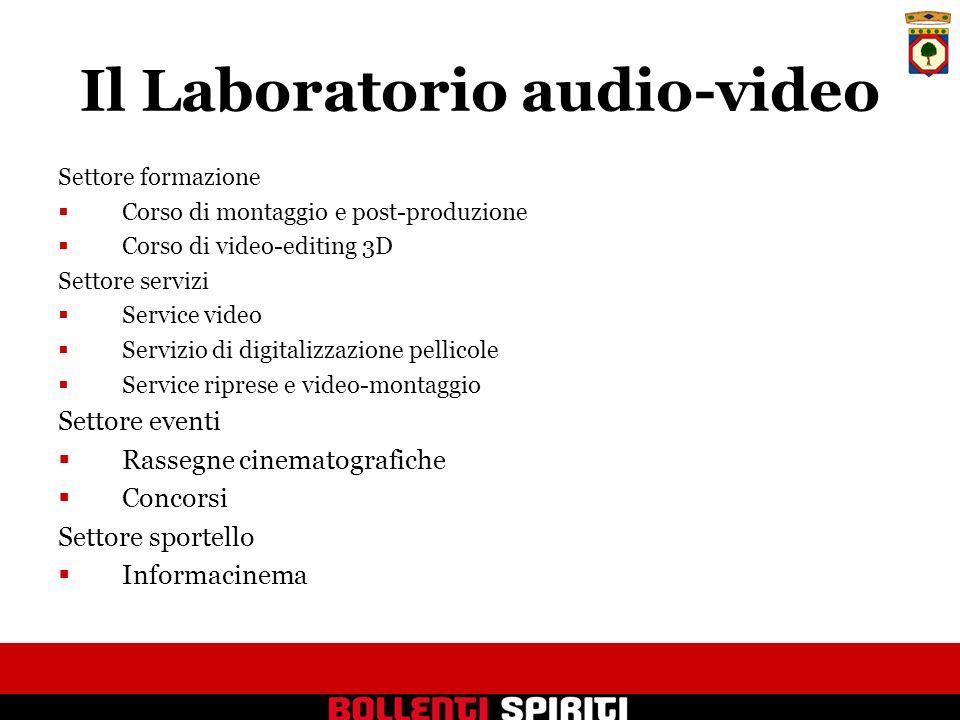 Settore formazione Corso di montaggio e post-produzione Corso di video-editing 3D Settore servizi Service video Servizio di digitalizzazione pellicole