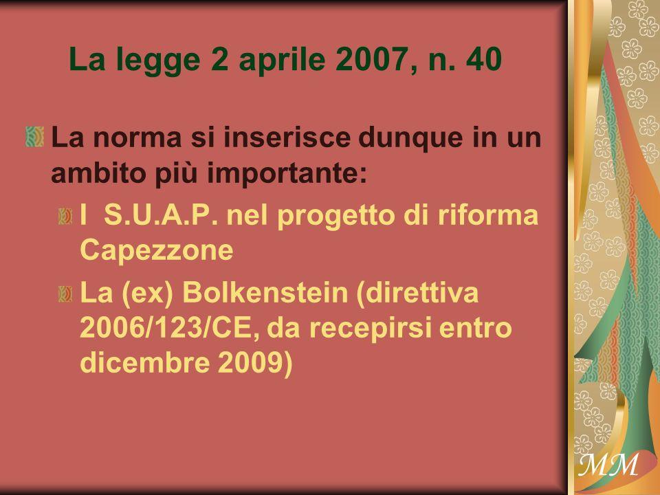 MM La legge 2 aprile 2007, n.