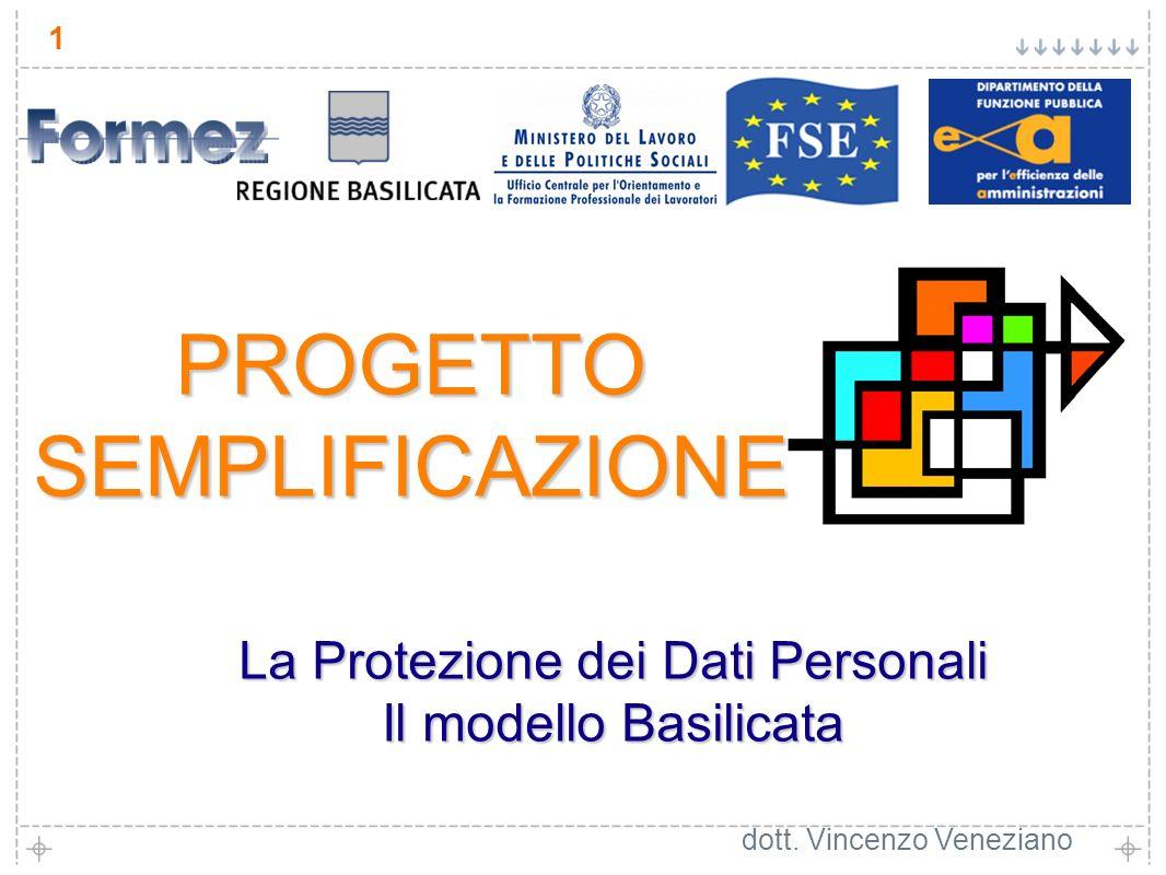 1 La Protezione dei Dati Personali Il modello Basilicata dott.