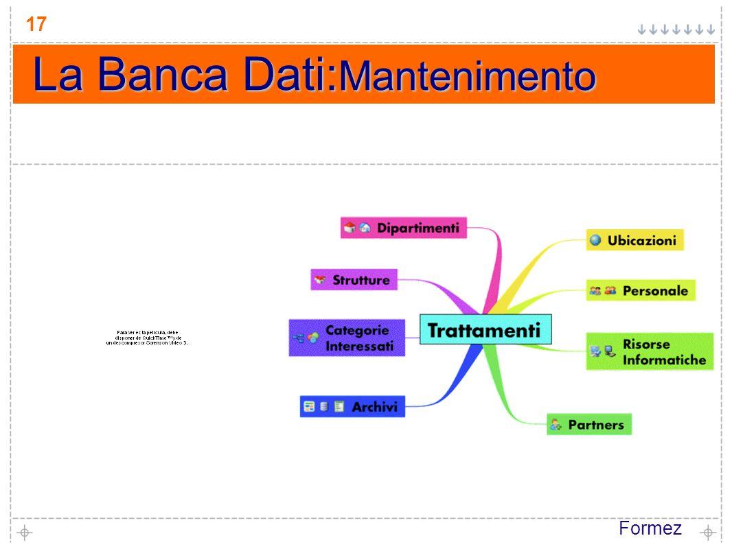 Formez 17 La Banca Dati: Mantenimento