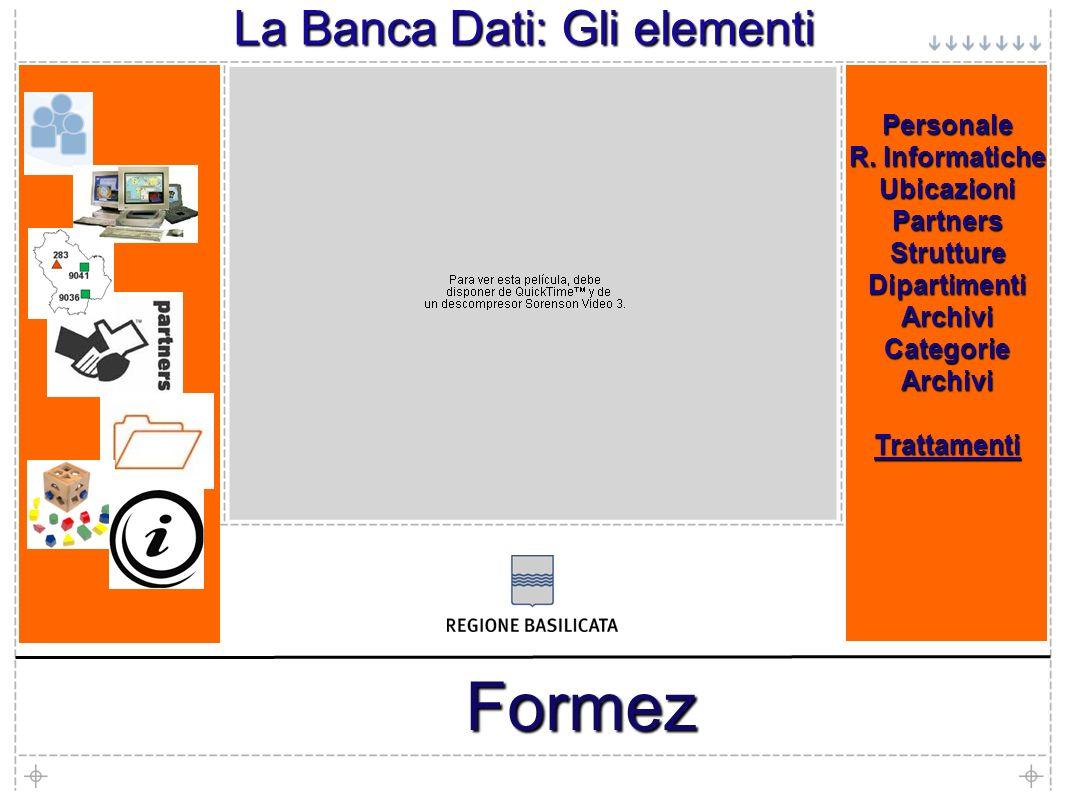 7 Formez La Banca Dati: Gli elementi Personale R.