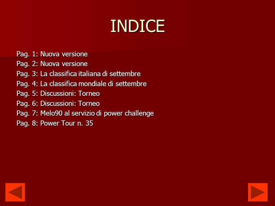 INDICE Pag.1: Nuova versione Pag. 2: Nuova versione Pag.