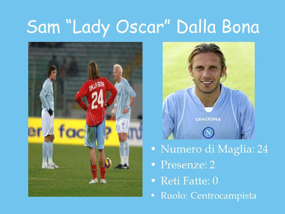 Sam Lady Oscar Dalla Bona Numero di Maglia: 24 Presenze: 2 Reti Fatte: 0 Ruolo: Centrocampista