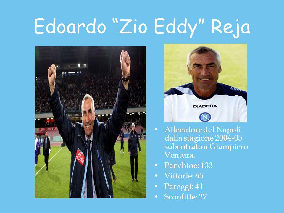 Edoardo Zio Eddy Reja Allenatore del Napoli dalla stagione 2004-05 subentrato a Giampiero Ventura.