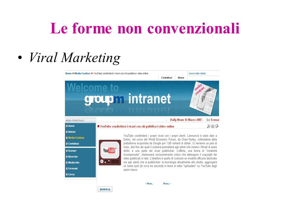 Le forme non convenzionali Viral Marketing