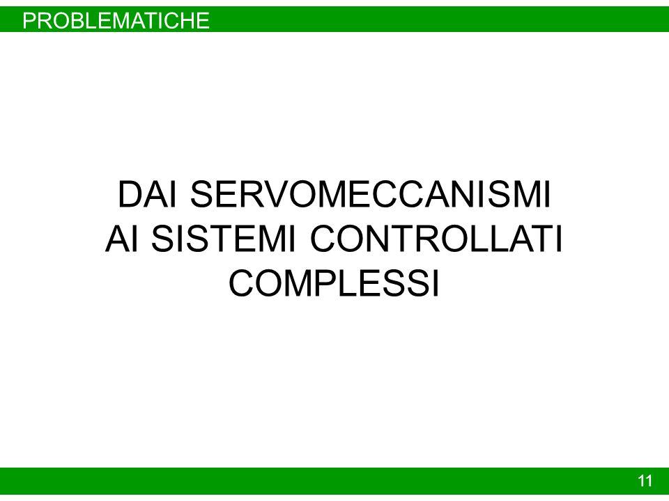 PROBLEMATICHE 11 DAI SERVOMECCANISMI AI SISTEMI CONTROLLATI COMPLESSI