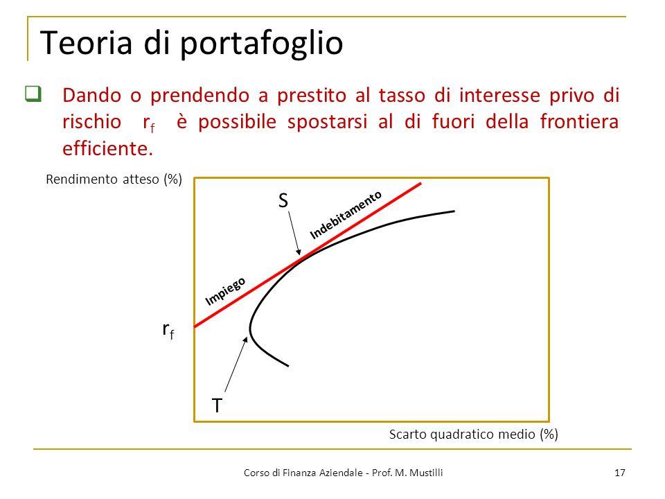 17Corso di Finanza Aziendale - Prof.M.