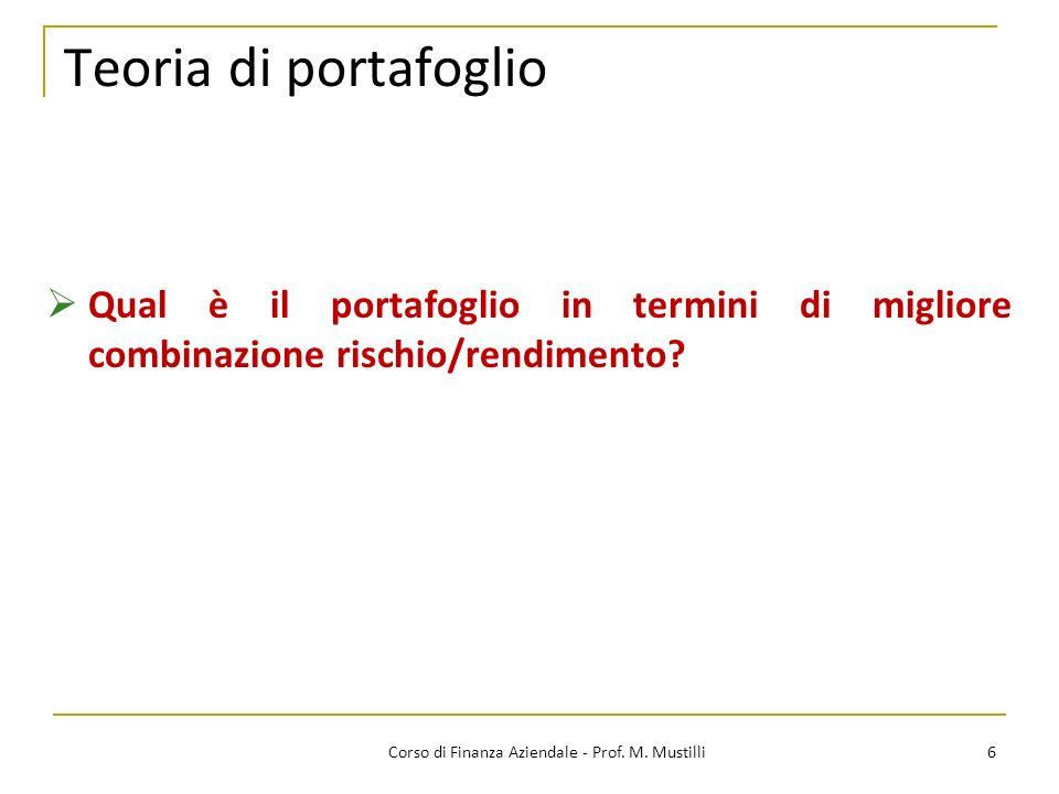 6Corso di Finanza Aziendale - Prof.M.