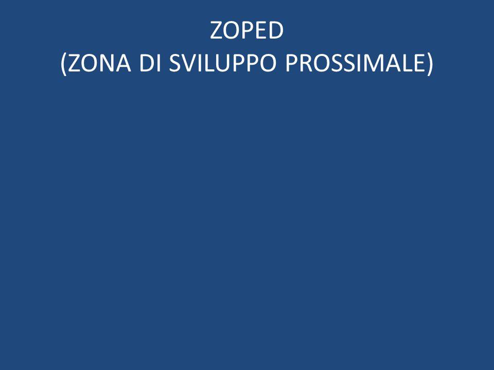ZOPED (ZONA DI SVILUPPO PROSSIMALE)