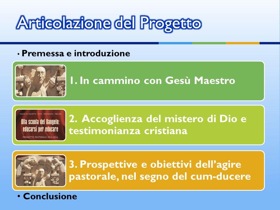 Premessa e introduzione Conclusione 1.In cammino con Gesù Maestro 2.