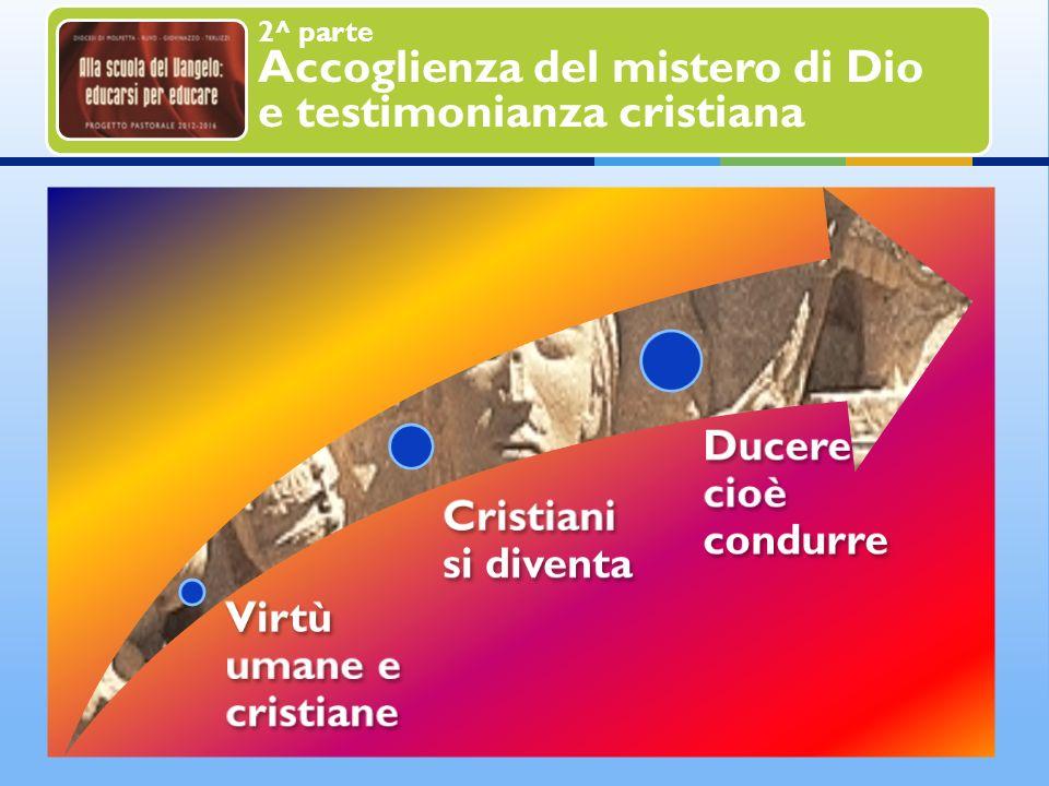 2^ parte Accoglienza del mistero di Dio e testimonianza cristiana In una continua circolarità e reciprocità