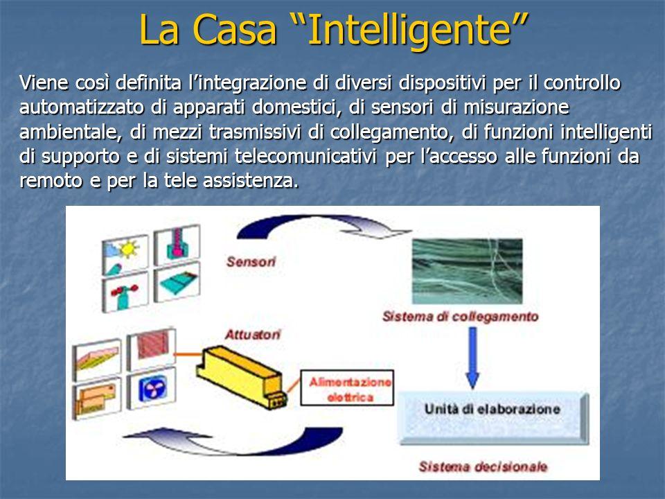 La Casa Intelligente Viene così definita lintegrazione di diversi dispositivi per il controllo automatizzato di apparati domestici, di sensori di misu
