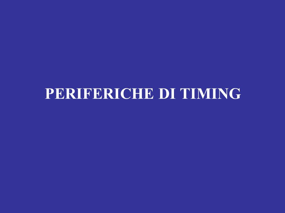 PERIFERICHE DI TIMING